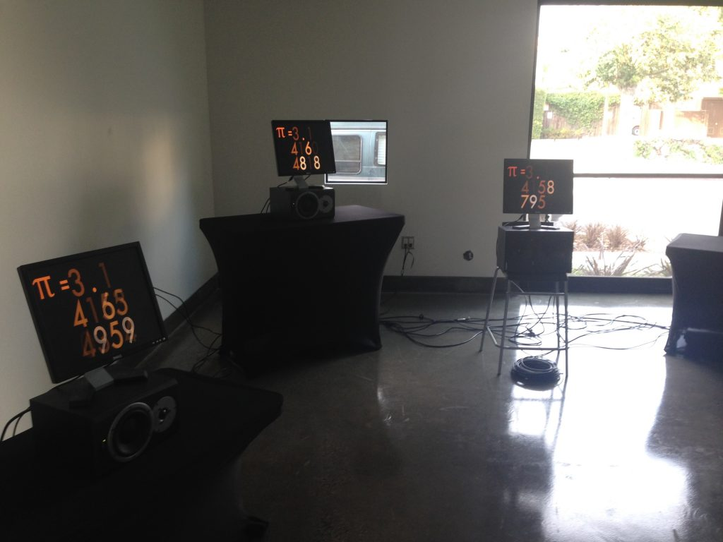 Installation at SBCAST. 6 Channels of audio-video