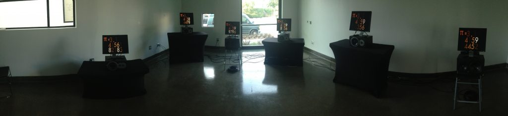 Panoramic image of setup at SBCAST.